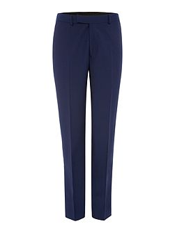 Solid Dark Blue Suit Trousers