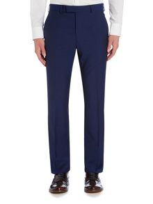 Simon Carter Solid Dark Blue Suit Trousers