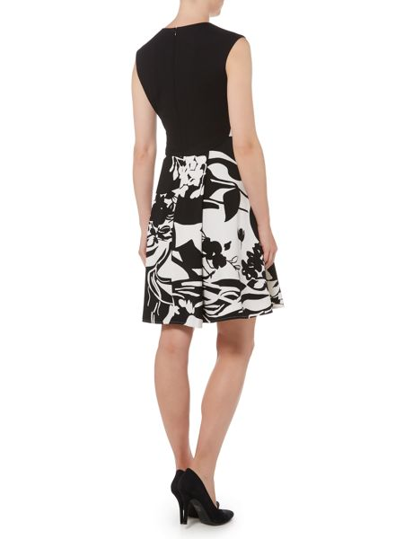 Ellen Tracy Floral printed a line dress