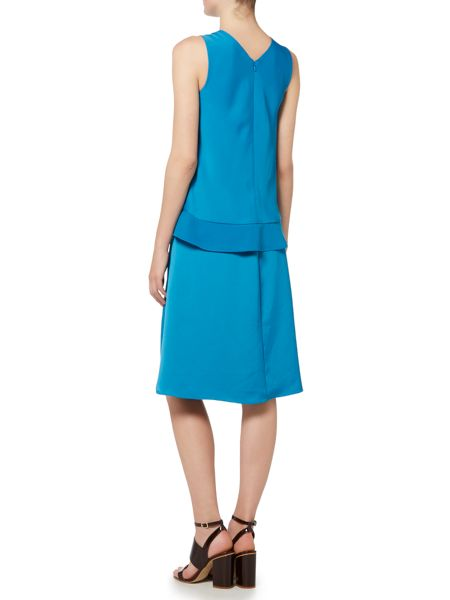 Ellen Tracy Assymetrical double layer dress