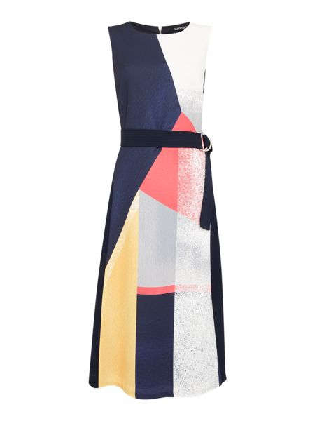 Ellen Tracy Sleeveless midi print