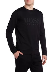 Hugo Boss Salbo crew neck logo sweatshirt