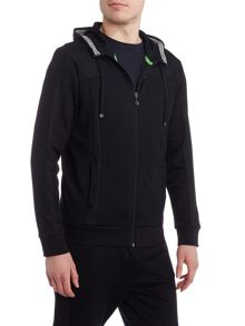 Hugo Boss Saggy zip through hoodie
