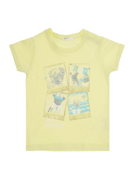 Benetton Boys Pug friends graphic tee