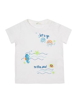 Boys Lets go to the sea graphic tee