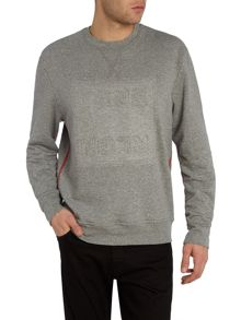 True Religion Regular fit logo crew neck sweatshirt
