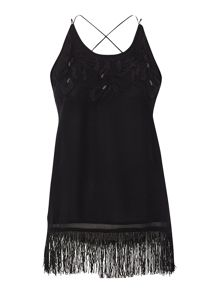 Label Lab Fringe embroidered cami