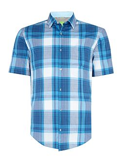 Byderino regular fit short sleeve check shirt