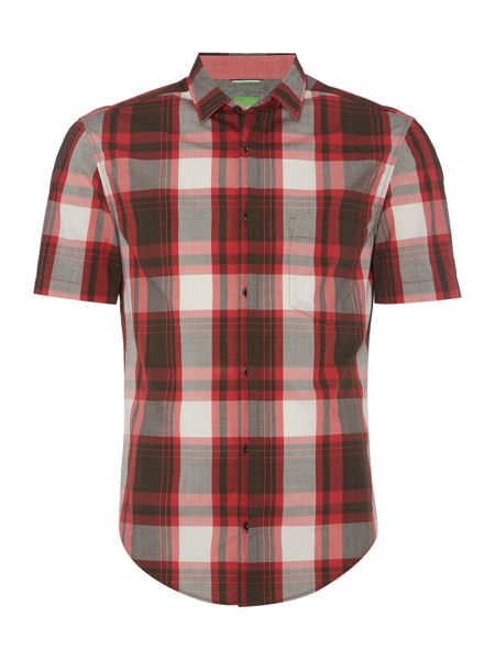 Hugo Boss Byderino short sleeve check shirt