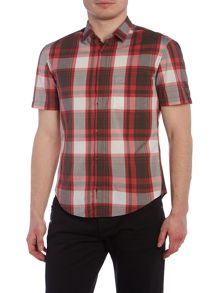 Hugo Boss Byderino regular fit short sleeve check shirt