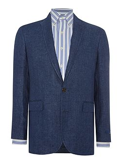 Morgan Notch Collar Linen Jacket