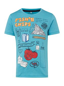Boys Fish and chips graphic tee