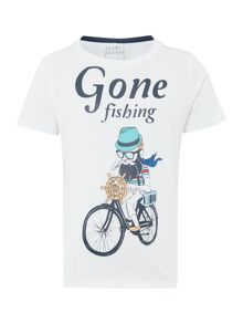 name it Boys Gone fishing graphic tee