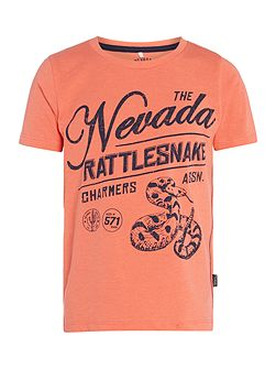 Boys Nevada rattlesnake graphic tee