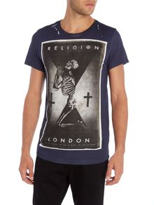Religion Regular fit praying skeleton london t shirt