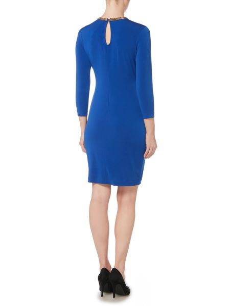 Episode Bodycon dress with embellished neckline