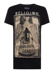 Religion Regular fit sleep when your dead t shirt