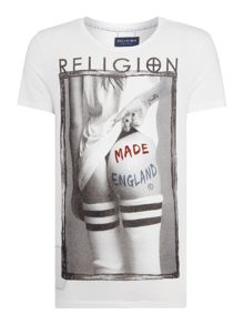 Religion Regular fit made in England crew neck t shirt