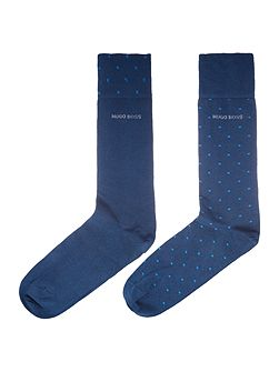 2 pack spot and plain sock set