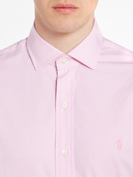 Polo Ralph Lauren Slim Estate Collar Tonal Pony Player Shirt