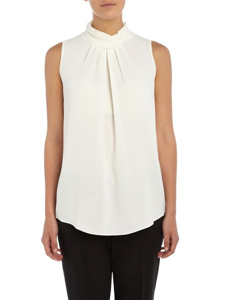 Ellen Tracy Halter neck woven top