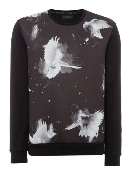 Religion Regular fit dove print crew neck sweat