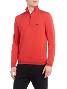 Hugo Boss Zime funnel neck 1/4 zip jumper