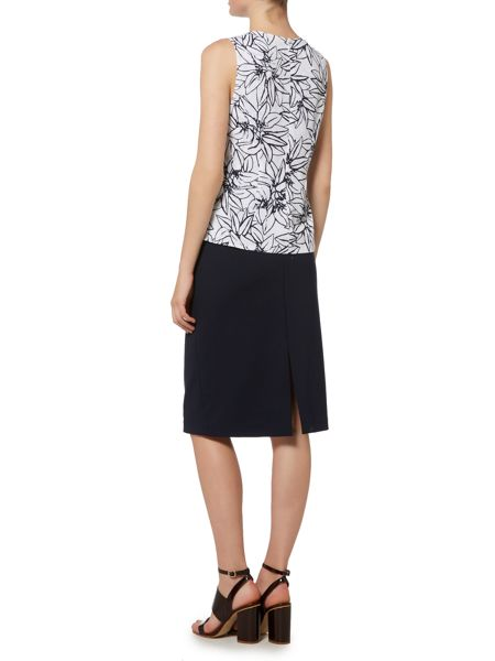 Ellen Tracy Sleeveless printed top
