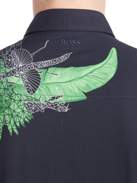 Hugo Boss Bhillo bright floral print shirt