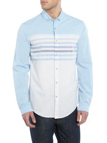 Hugo Boss Blaky regular fit placement stripe shirt