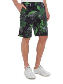 Hugo Boss Liem2 slim fit floral print shorts