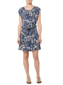 Linea Weekend Fossil print dress