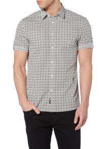 Religion Totem slim fit all over flower print shirt