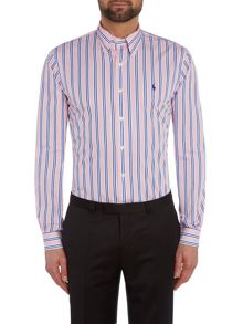 Button Down Collar Bold Stripe Shirt