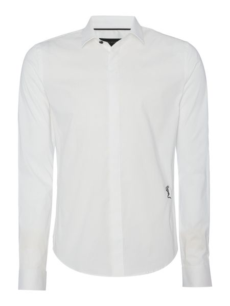Religion Legion slim fit plain long sleeve poplin shirt