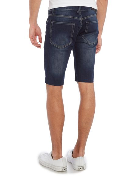 Religion Noize washed denim shorts