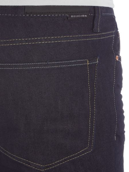 Religion Session carrot fit dark wash indigo jeans