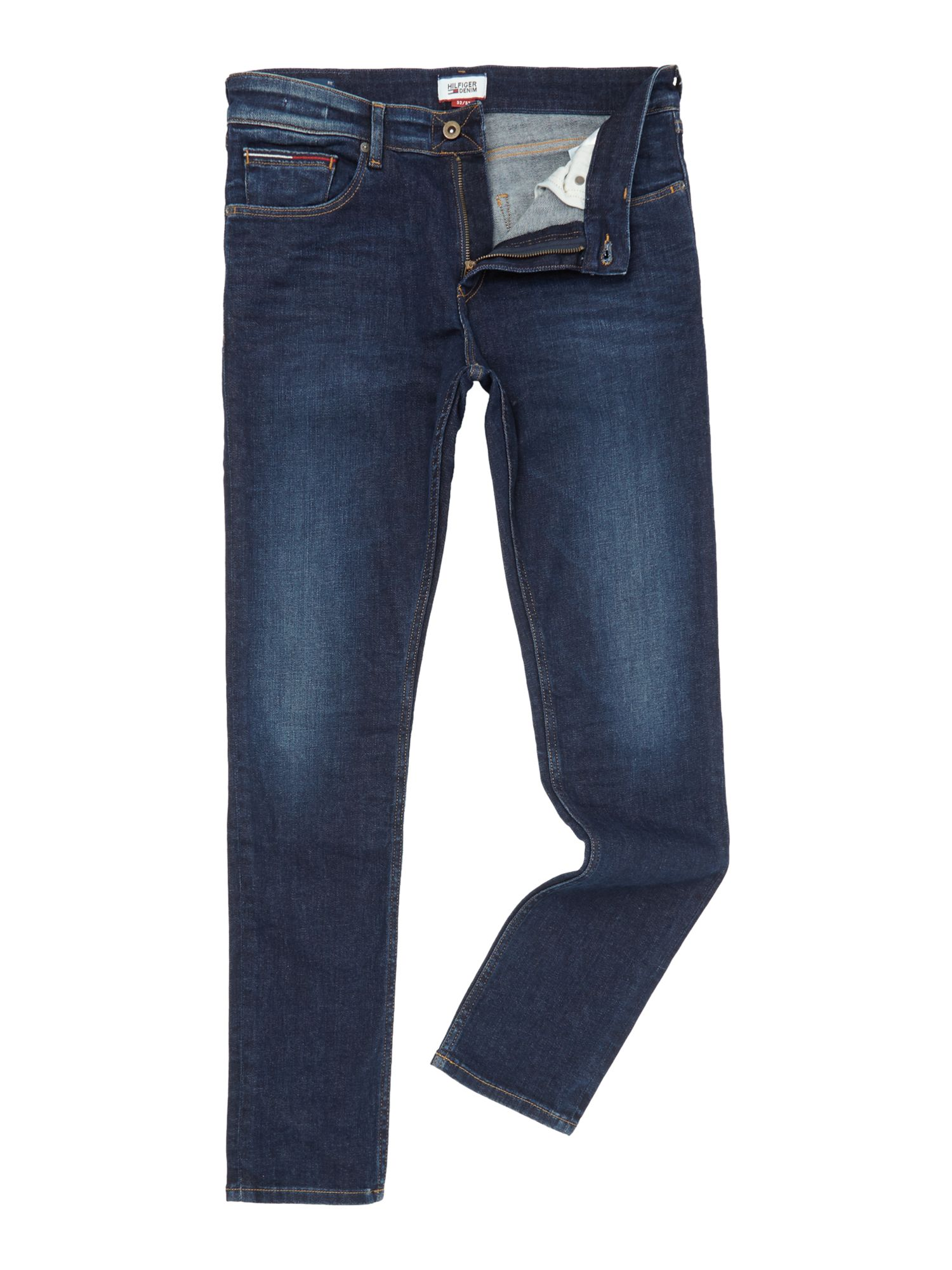 Mens Steve Slim Tapered Jeans, Dark Blue
