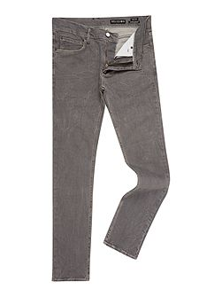 Noize slim fit endino wash grey ripped jeans