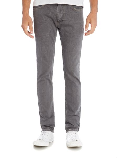 Religion Noize slim fit endino wash grey ripped jeans