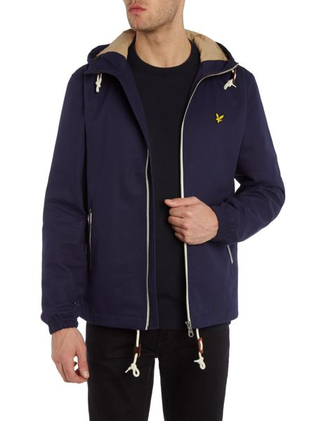 Lyle and Scott Hooded Twill Jacket