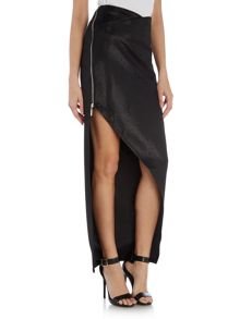 Lipsy Split Maxi Dress With Shimmer Skirt