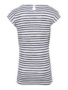 name it Girls Cap sleeve stripe and bow dress
