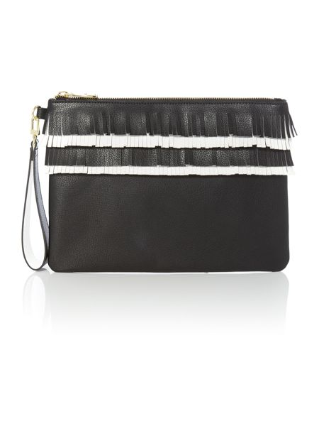 Therapy Dixie fringe clutch handbag