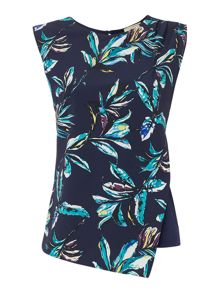 Linea Asymetric palm print top