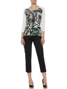 Linea Woven front palm print top