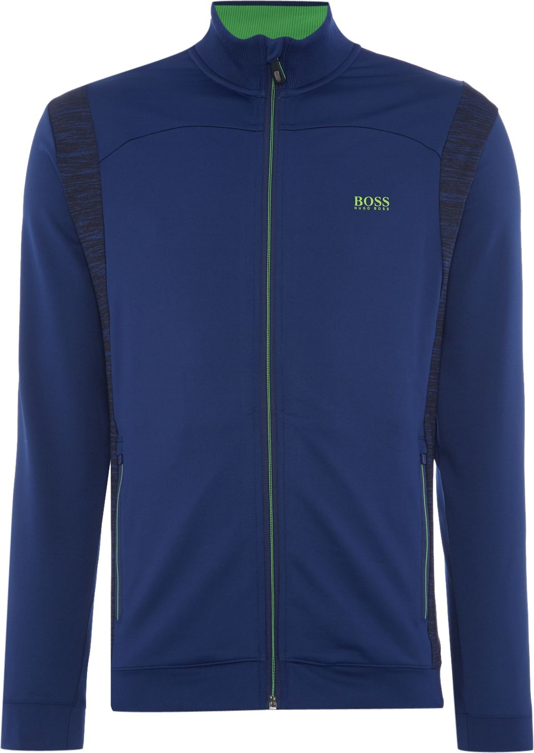 Mens Hugo Boss Golf skatech zip through sweatshirt Blue