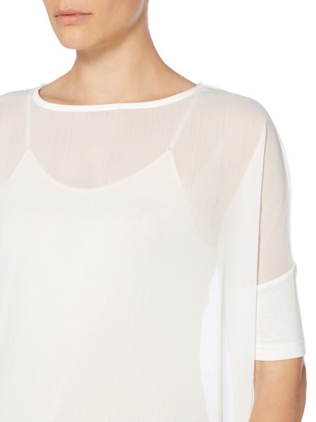 Label Lab Sheer crinkle woven top