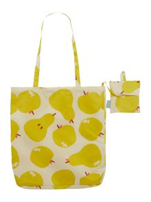Radley Apples and Pears multicoloured foldaway tote bag