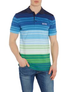 Hugo Boss Golf paddy pro 1 striped polo shirt